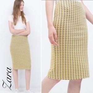 {Zara} geometric knit tube skirt